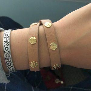 tory burch leather wrap around bracelet